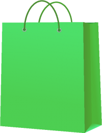 PAPER BAG LIGHT GREEN vector icon