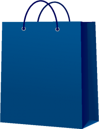 PAPER BAG NAVY BLUE vector icon