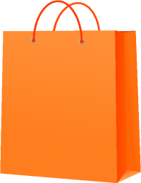 PAPER BAG ORANGE vector icon