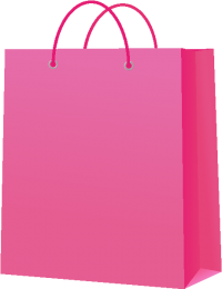 PAPER BAG PINK vector icon