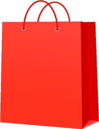 PAPER BAG RED vector icon