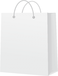 PAPER BAG WHITE vector icon
