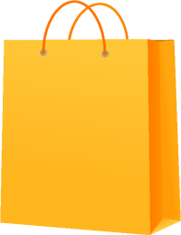 PAPER BAG YELLOW vector icon