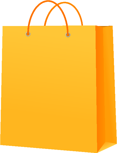 Paper Bag Design Vector Paper Bag Yellow Vector Icon