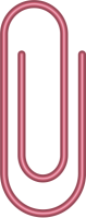 Pink Paper Clip Vector Data for Free