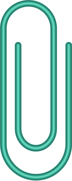 paperclip2_turquoise_blue