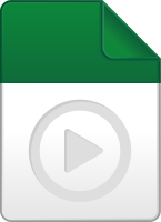 Dark green play file icon vector data for free