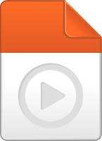 Light orange play file icon vector data for free