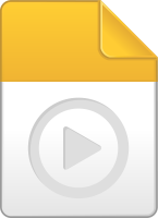Yellow play file icon vector data for free