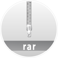 """RAR"" data compression icon Circle"