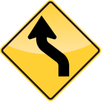 REVERSE CURVE Sign