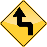 REVERSE TURN Sign