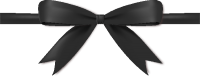 Black Bow Ribbon Icon Vector Data