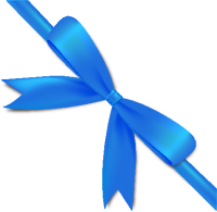 Blue Bow Ribbon Icon2 Vector Data
