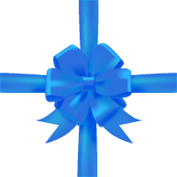 Blue Bow Ribbon Icon Vector Data