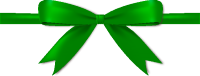Dark Green Bow Ribbon Icon Vector Data