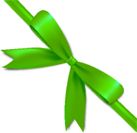 Green Bow Ribbon Icon2 Vector Data