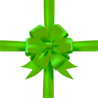 Green Bow Ribbon Icon3 Vector Data
