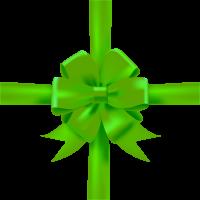 Green Bow Ribbon Icon3 Vector Data