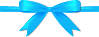 Light Blue Bow Ribbon Icon Vector Data
