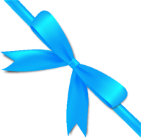 Light Blue Bow Ribbon Icon2 Vector Data