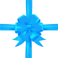 Light Blue Bow Ribbon Icon3 Vector Data