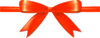 Orange Bow Ribbon Icon Vector Data