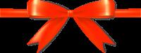 Orange Bow Ribbon Icon Vector Data