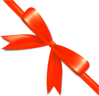 Orange Bow Ribbon Icon2 Vector Data