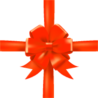 Orange Bow Ribbon Icon3 Vector Data
