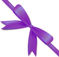 Purple Bow Ribbon Icon2 Vector Data