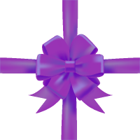 Purple Bow Ribbon Icon3 Vector Data