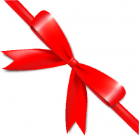 Red Bow Ribbon Icon2 Vector Data
