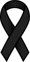 Black Ribbon Sticker Icon.vector data