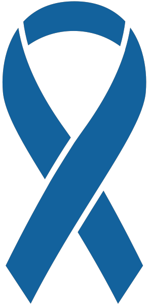 Ribbon sticker icon blue2