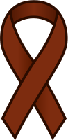 Brown Ribbon Sticker Icon.vector data