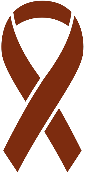 Brown Ribbon Sticker Icon2 Vector Data.