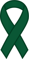 Dark Green Ribbon Sticker Icon.vector data
