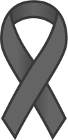 Gray Ribbon Sticker Icon.vector data