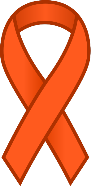Orange Ribbon Sticker Icon.vector data