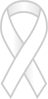 White Ribbon Sticker Icon.vector data