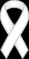 White Ribbon Sticker Icon.vector data