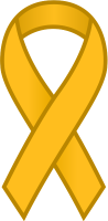 Yellow Ribbon Sticker Icon.vector data