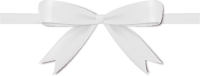 White Bow Ribbon Icon Vector Data