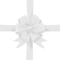 White Bow Ribbon Icon3 Vector Data
