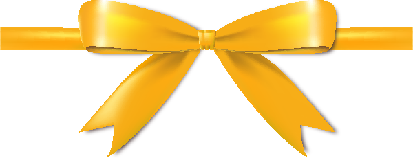 Yellow Bow Png Yellow Bow Ribbon Icon Vector