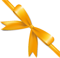 Yellow Bow Ribbon Icon2 Vector Data