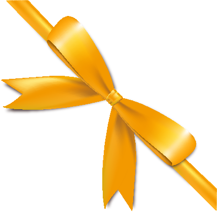 Yellow Bow Png Yellow Bow Ribbon Icon2 Vector