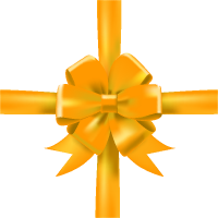 Yellow Bow Ribbon Icon3 Vector Data