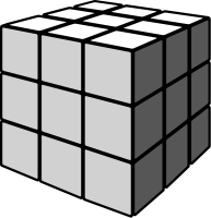 Rubik's cube gray vector icon